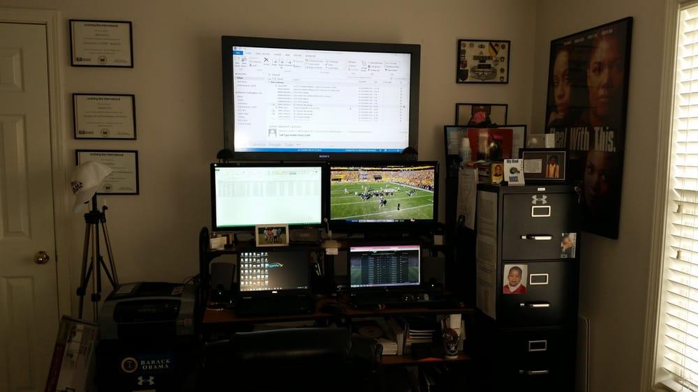 Photo Of My Tv Guy Marietta Ga United States Office Setup Computer
