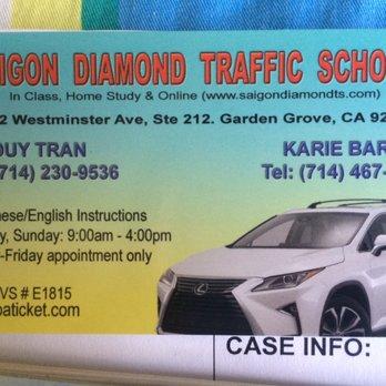 Saigon Diamond Traffic School - Traffic Schools - 10872 Westminster ...