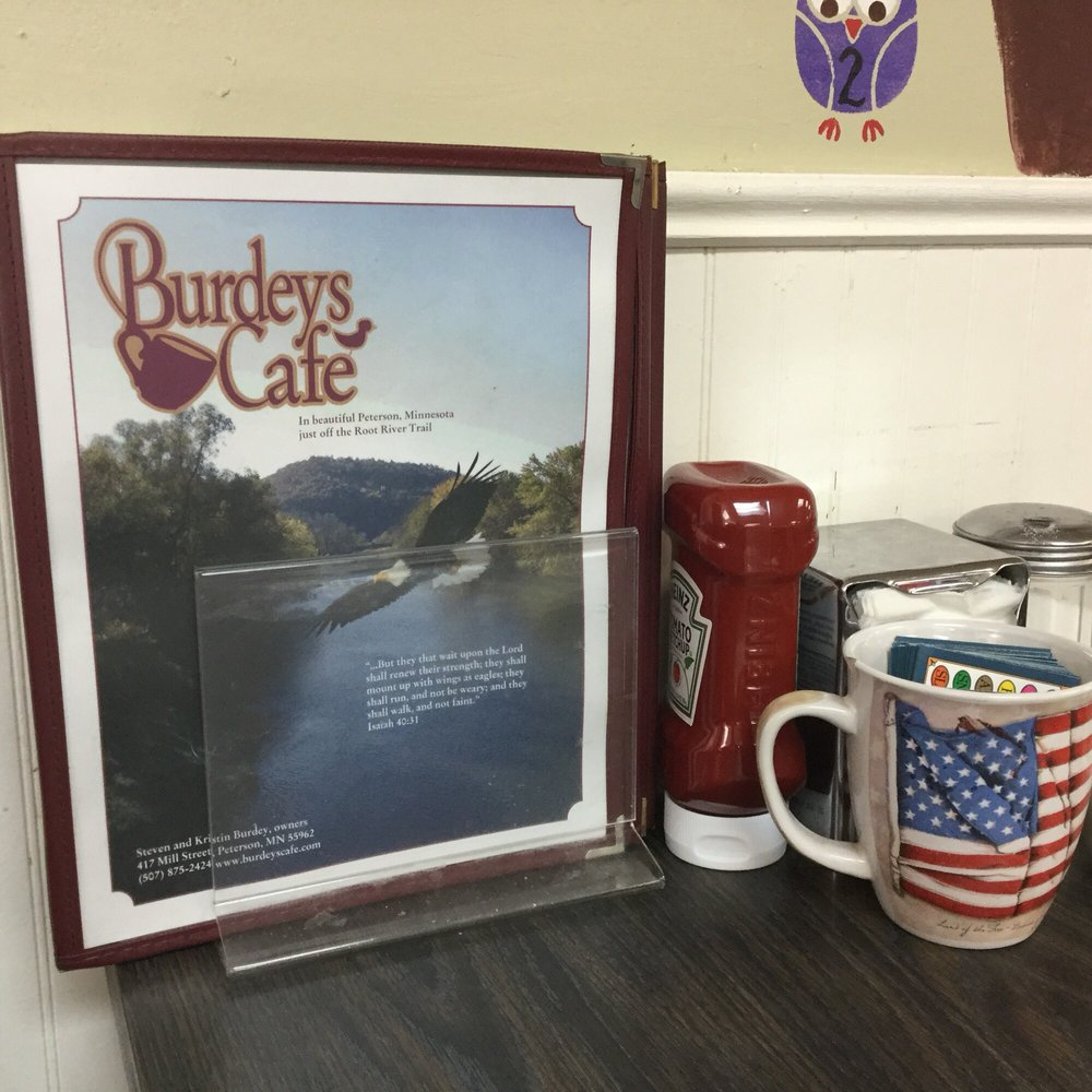 Burdey's Cafe: 417 Mill St, Peterson, MN