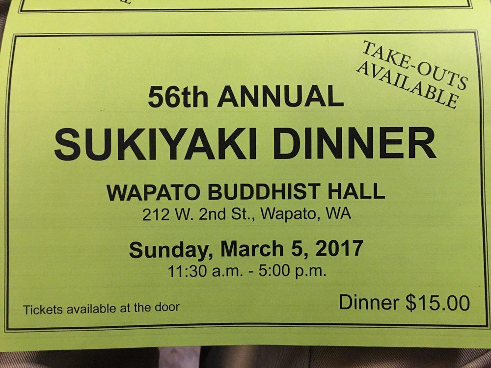 Annual Sukiyaki Dinner: 212 W 2nd St, Wapato, WA