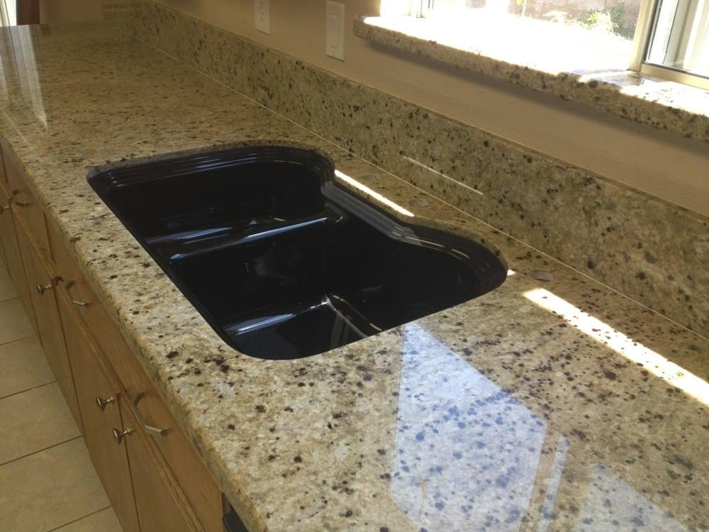 Composite Kitchen Countertops : ... . Kitchen counter, Napoli granite, pencil edge, with composite sink