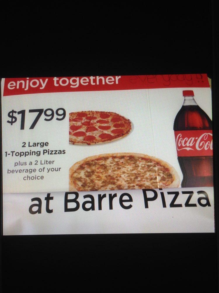 Barre Pizza: 10 Moulton St, Barre, MA