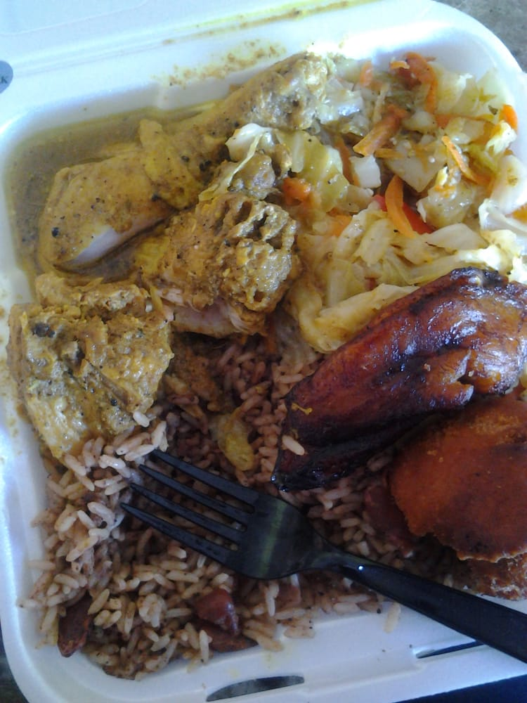Saturday curry chicken special yum yelp for Ackee bamboo jamaican cuisine