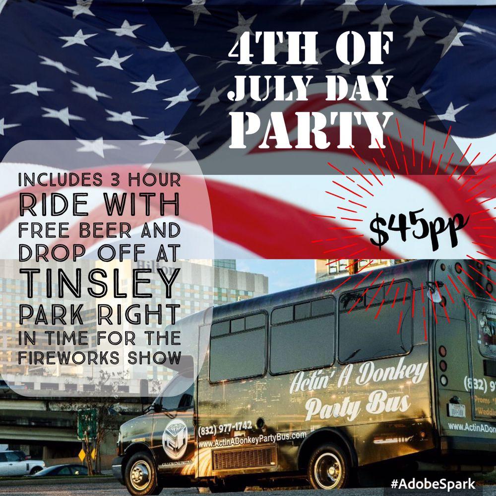 Actin' A Donkey Party Bus: Houston, TX