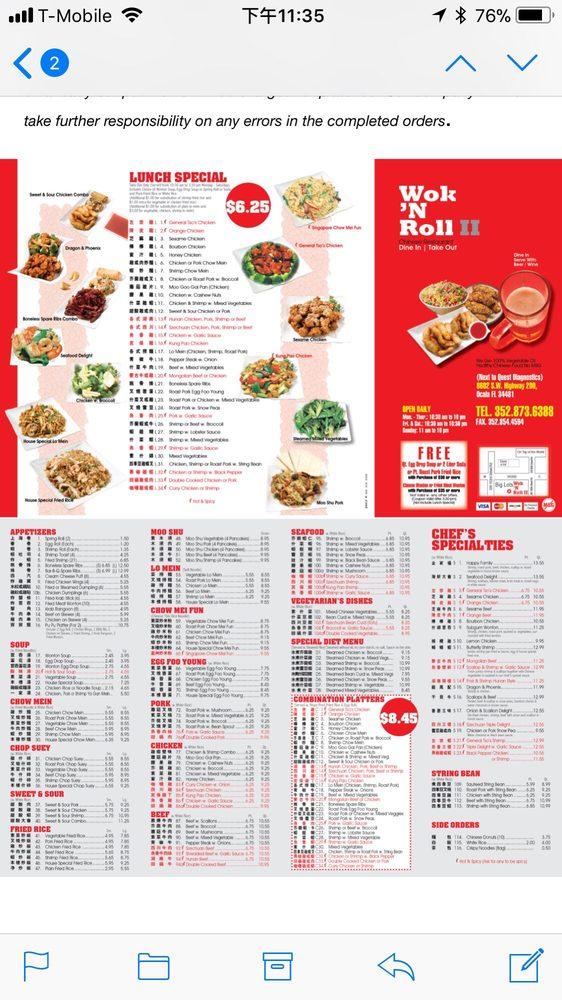 Wok N Roll Ii 11 Photos Restaurants 8602 Sw Highway 200 Ocala Fl Restaurant Reviews Phone Number Last Updated December 15 2018 Yelp