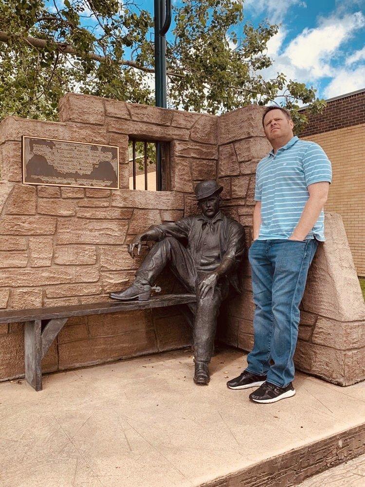 Sundance Kid Statue: 309 E Cleveland St, Sundance, WY