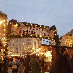 Weihnachtsmarkt Wien Eröffnung.Altwiener Christkindlmarkt Freyung Innere Stadt Vienna Wien