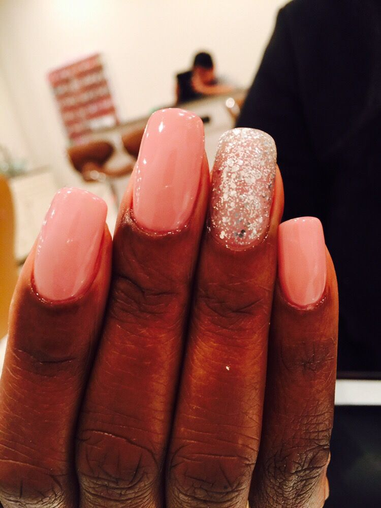 Acrylic nails and Gel color, Rock \