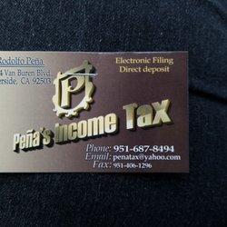 pena s income tax get quote tax services 6694 van buren blvd