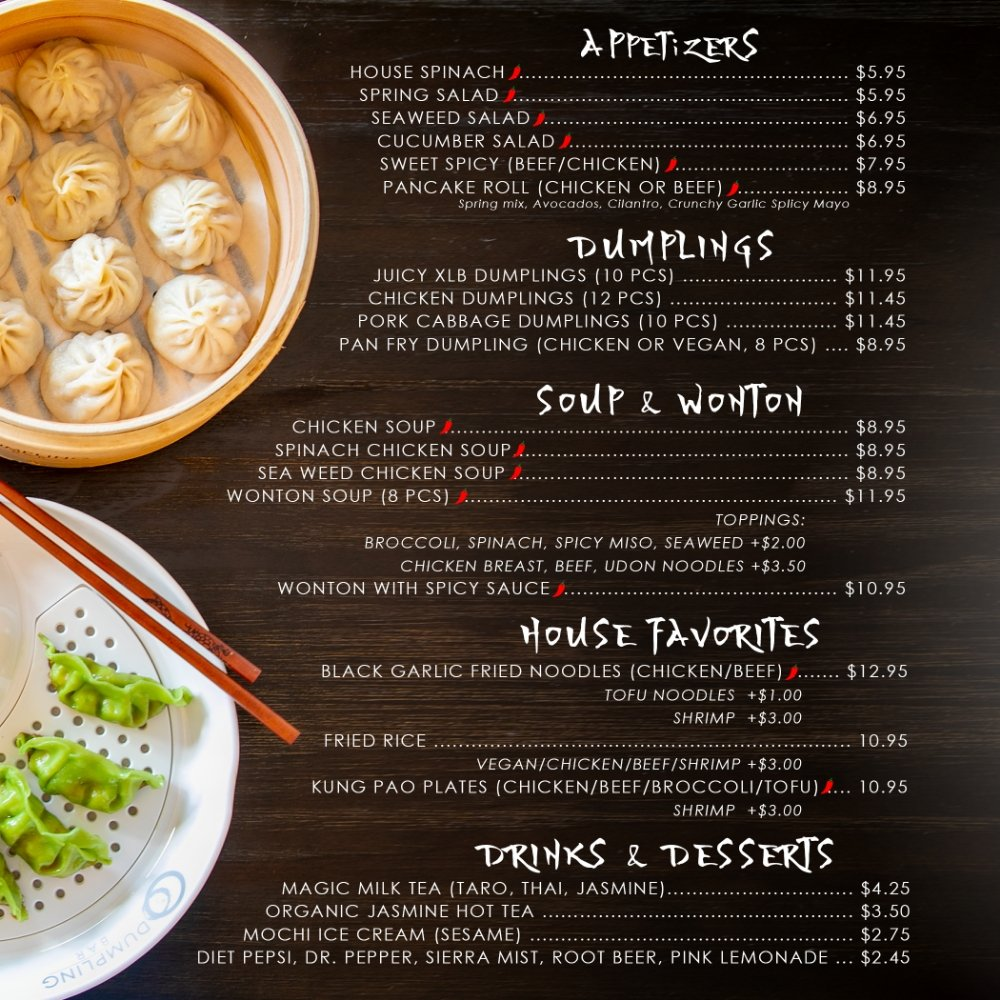 Food from O Dumpling Bar