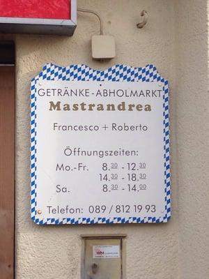 Getränke-Abholmarkt Mastrandrea - Beverage Store - Ippenbergerstr ...