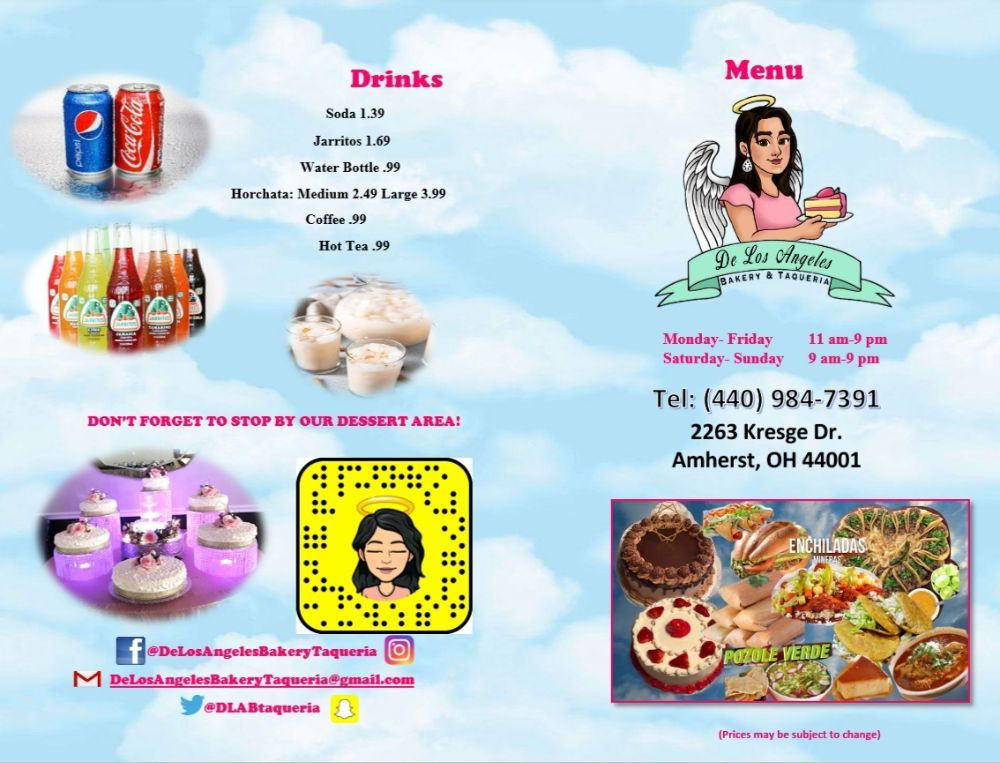 De Los Angeles Bakery and Taqueria: 2263 Kresge Dr, Amherst, OH