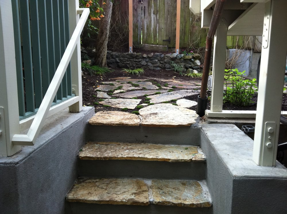 Wall Design Build Inc : Noe valley retaining wall garden stairs stonework