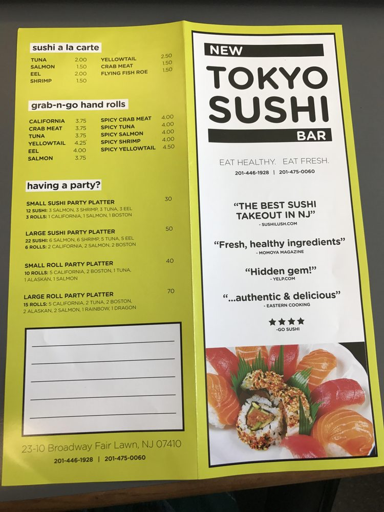 Menu As Of 03 21 2017 Front And Back Yelp