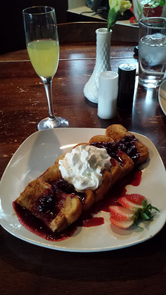 Mixed Berries French Toast And Spongebob Pineapple Juice Champagne Yelp