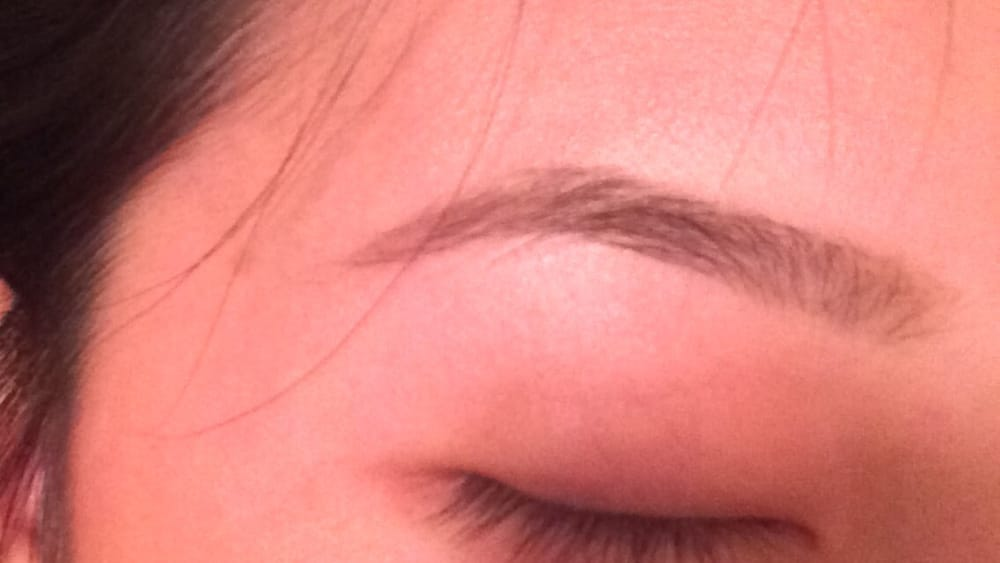 My Brows After Threading And I Filled It In With A Tad Bit Of Makeup