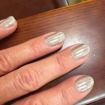 Thanks Rosa Photo of Top Nails - Monterey, CA, United States. Chrome gel painted nails ...