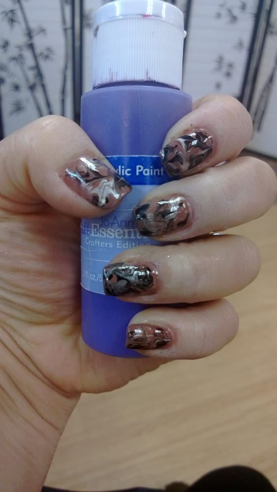 we do marble nails art here. - Yelp