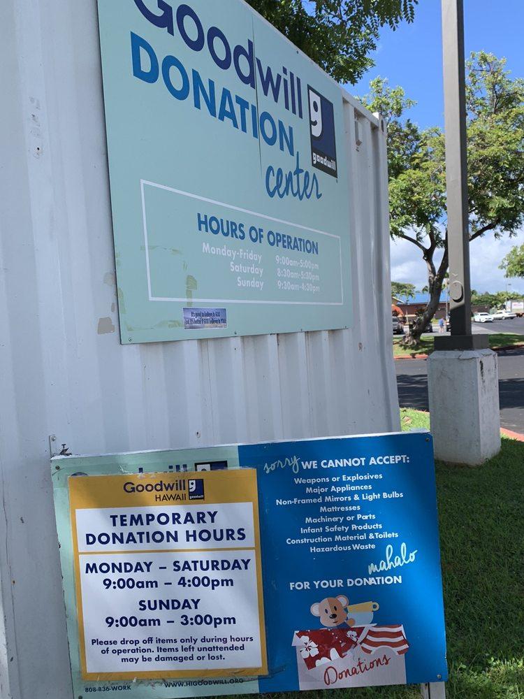 Goodwill Donation Center: 94-1024 Waipio Uka St, Waipahu, HI