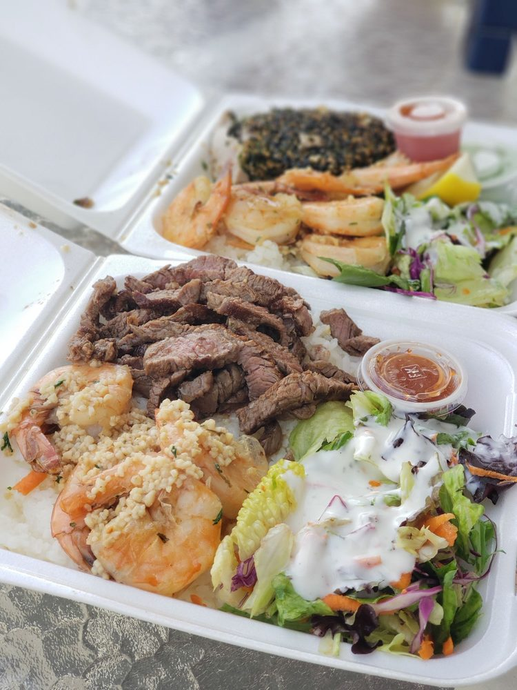 Food from Ono Steaks and Shrimp Shack