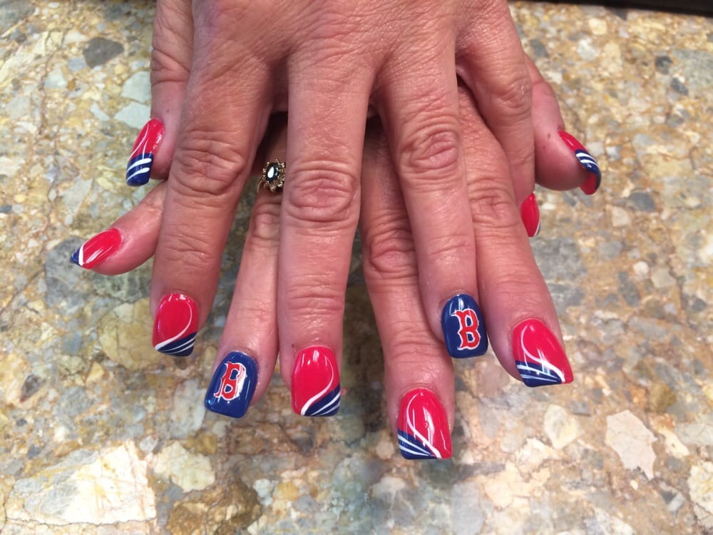 Photo Of Expo Nails Flat Rock Mi United States Boston Red Sox