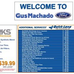 Gus Machado Ford Service >> Gus Machado Ford Of Hialeah Hialeah Fl 1200 W 49th St Phone