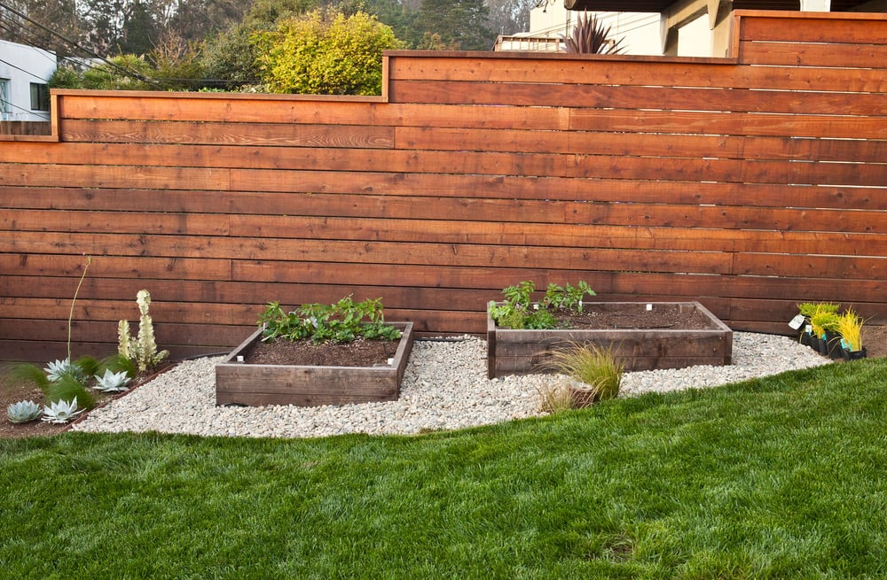 Modern Horizontal Fence 6 Inches Wide Redwood Boards Yelp
