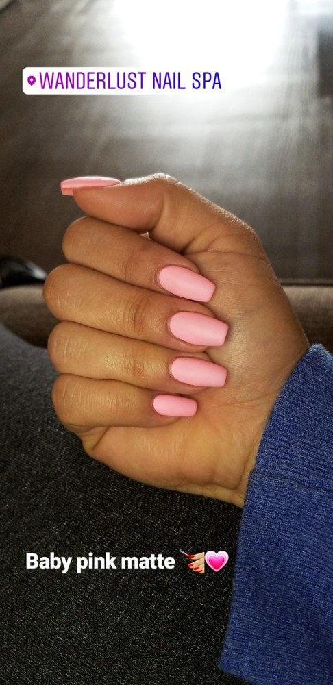 Baby pink matte nails (hard gel) - Yelp