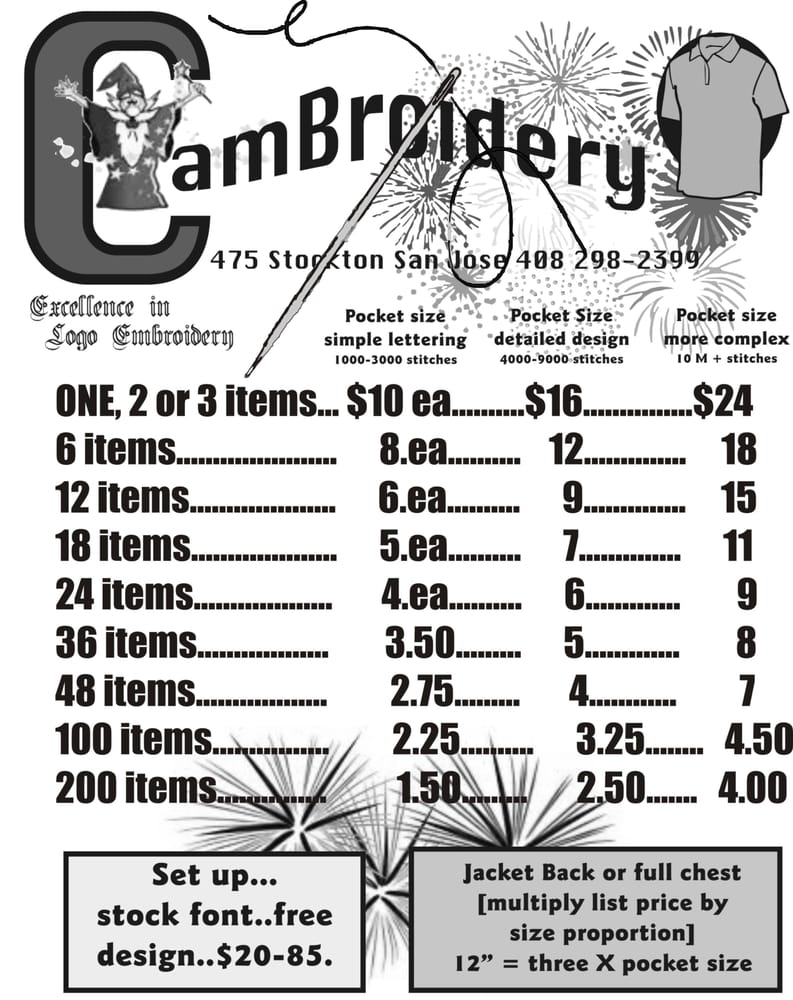 Cambroidery 29 reviews screen printing t shirt for T shirt printing stockton ca