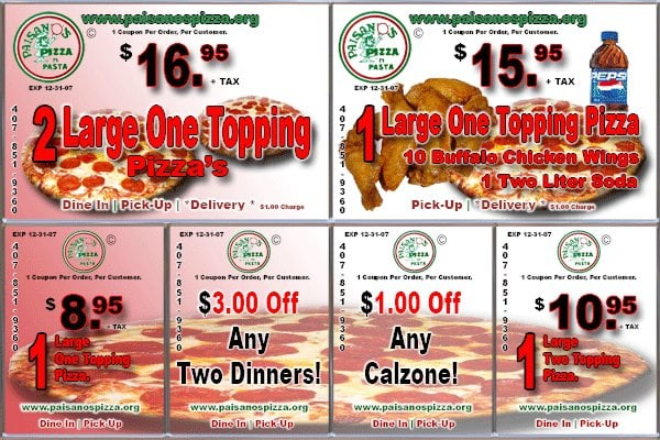 Paisanos Near Me >> Paisano's Pizza Restaurant - Holden Heights - Orlando, FL ...