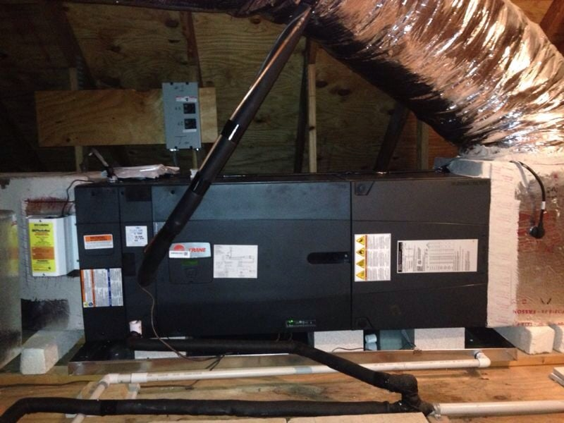 Trane Hyperion air handler attic installation  - Yelp