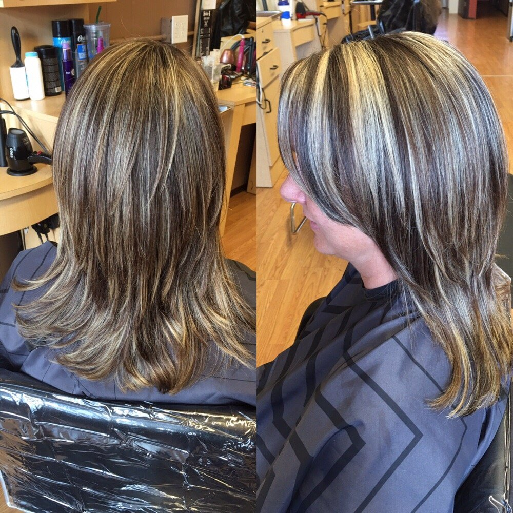 Chunky Multi Color Foil And Layered Haircut Yelp