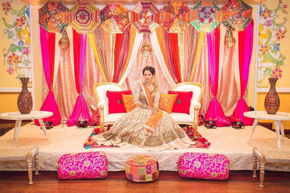 Bay Area Indian Wedding Decorations Sangeet Mehndi Decor Yelp