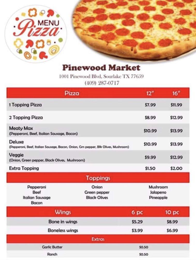 Pinewood Market Deli: 1001 Pinewood Blvd, Sour Lake, TX