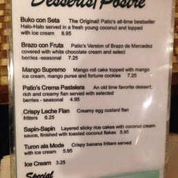 Photo Of Patio Filipino   San Bruno, CA, United States. Dessert Menu,