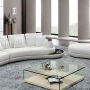Modern Design Round Bed With Photo Of Stendmar   Ontario, CA, United  States. 3pc Modern Leather Sectional Sofa ...