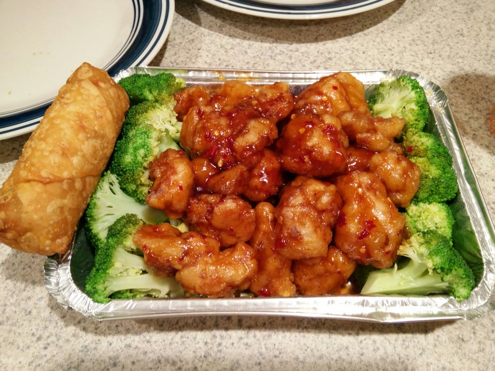 General Tso's chicken (incl  rice)- $9 75 - Yelp