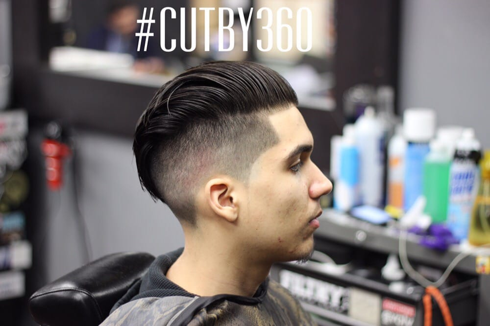 Slick Back With Pompadour Undercut Fade Cut By 360 Yelp
