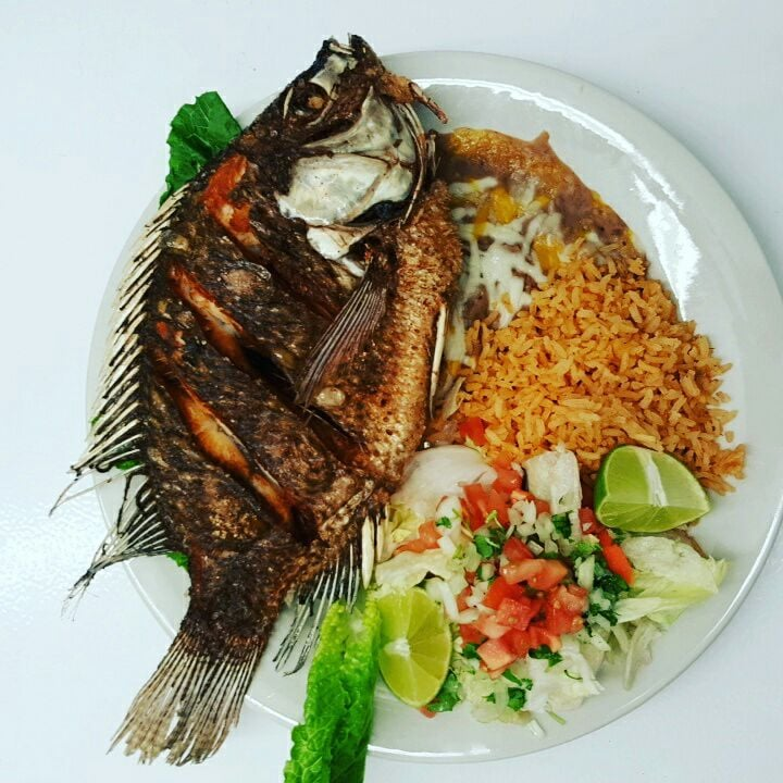 Mojarra frita deep fried whole tilapia fish yummy yelp for Deep fried whole fish