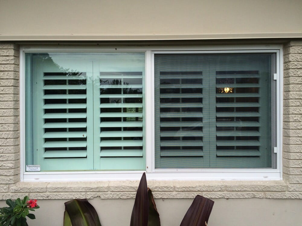 Plantation shutter outside view yelp for Plantation shutters exterior