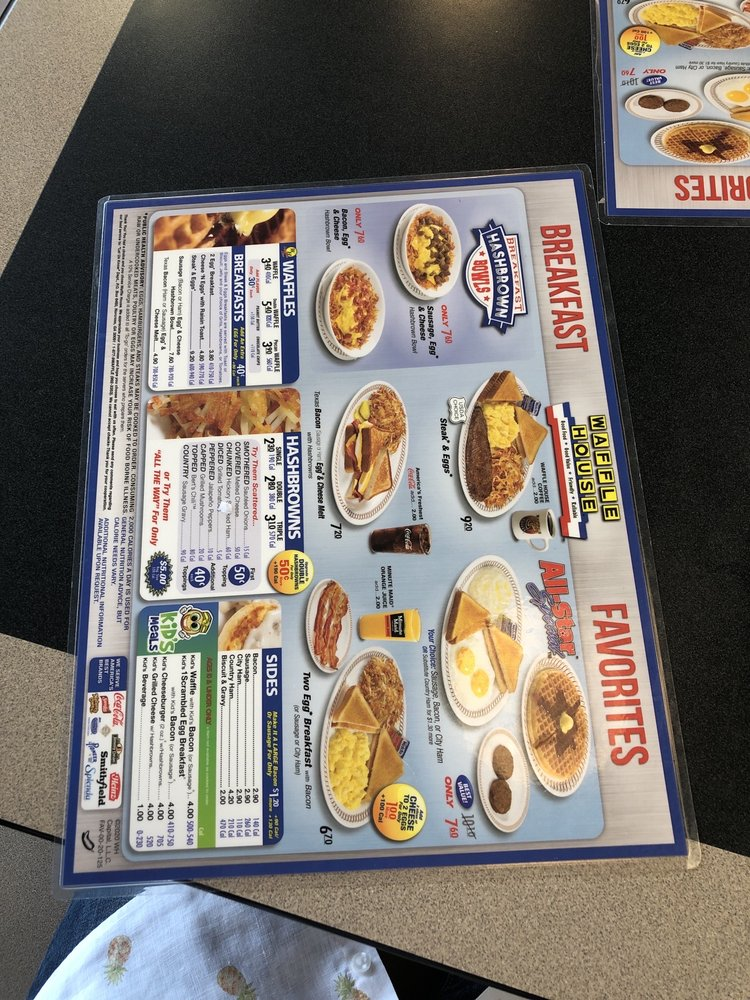 Waffle House: 606 Coulter Dr, New Albany, MS