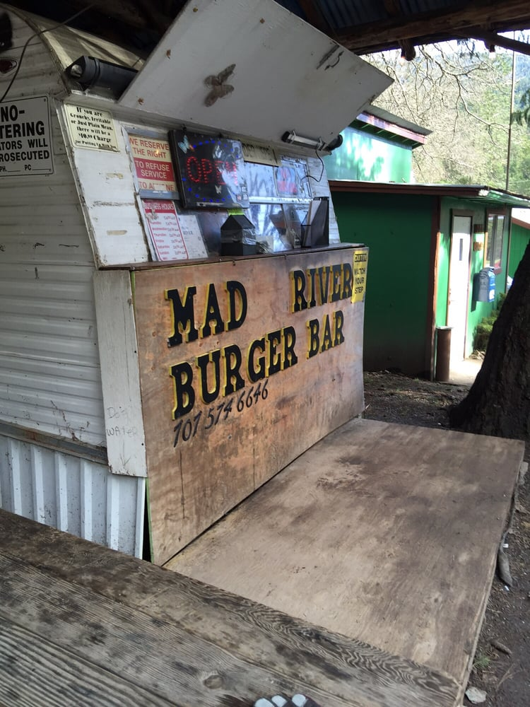 Mad River Burger Bar: 2515 State Hwy 36, Mad River, CA