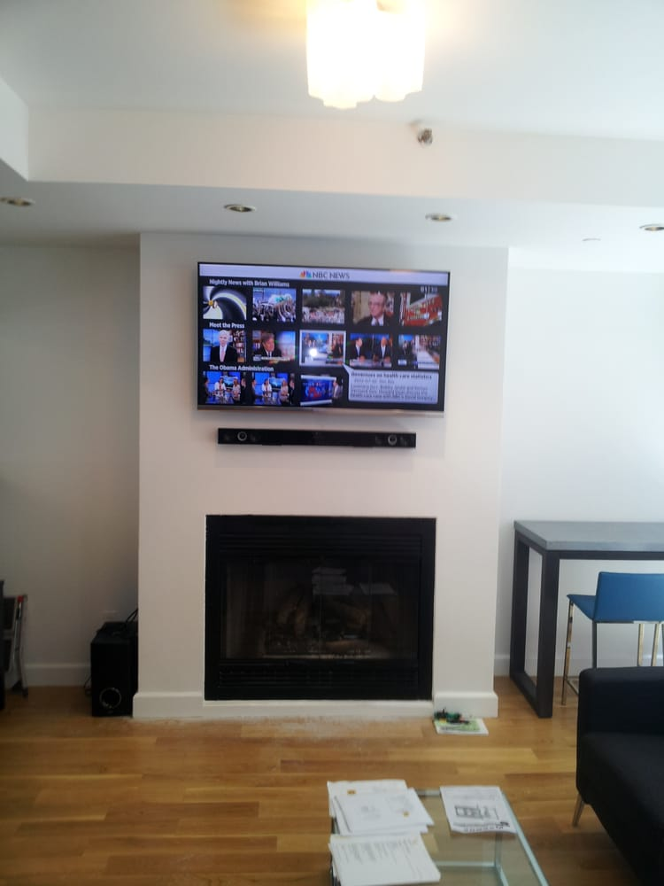 60 Above Fireplace With sound bar. - Yelp