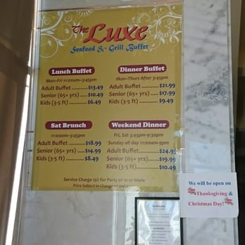 picture relating to The Luxe Buffet Printable Coupon Westminster called Luxe buffet charges : Decatur dmv