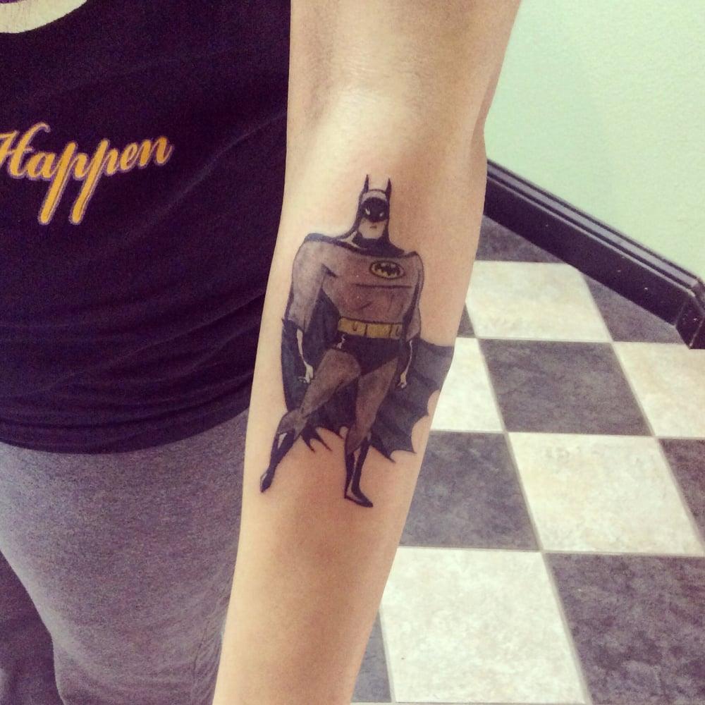 Batman tattoo sacramento 39 s best tattoo shop poke a dotz yelp for Sacramento tattoo and piercing