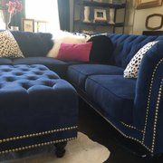 Beau Blue Tufted Velvet Nailhead Photo Of Monarch Sofas   Dallas, TX, United  States. Blue Tufted Velvet Nailhead