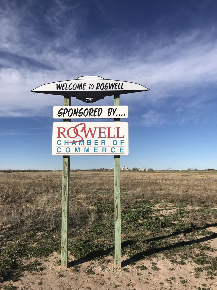 Roswell Welcome Sign: Roswell, NM