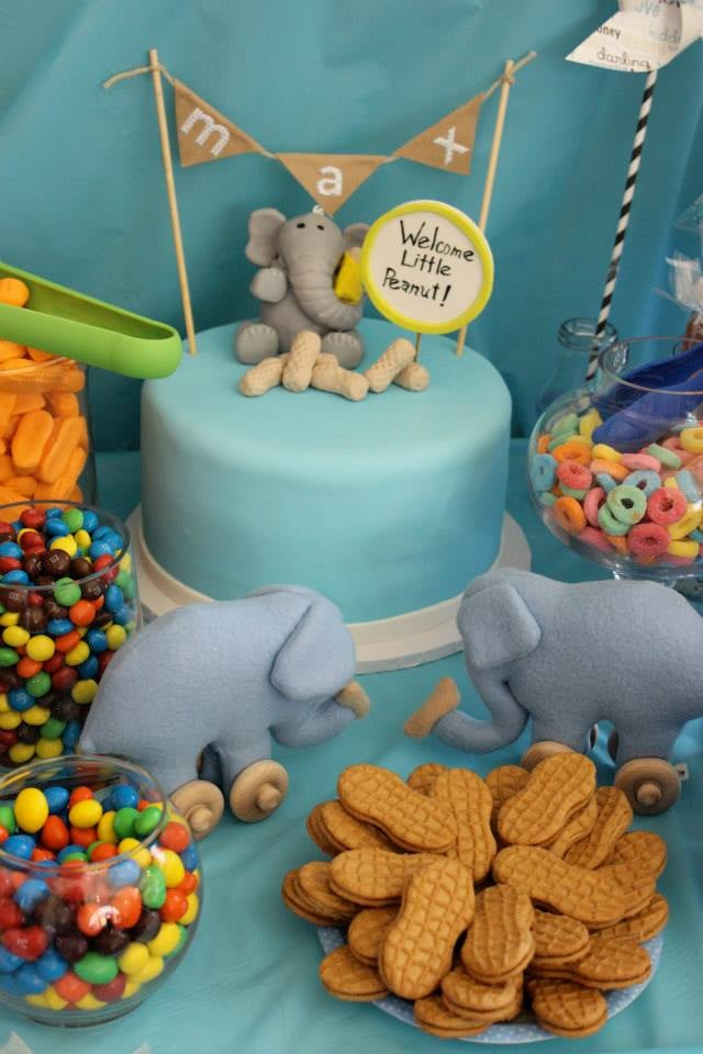 elephant peanut baby shower cake for my yelp