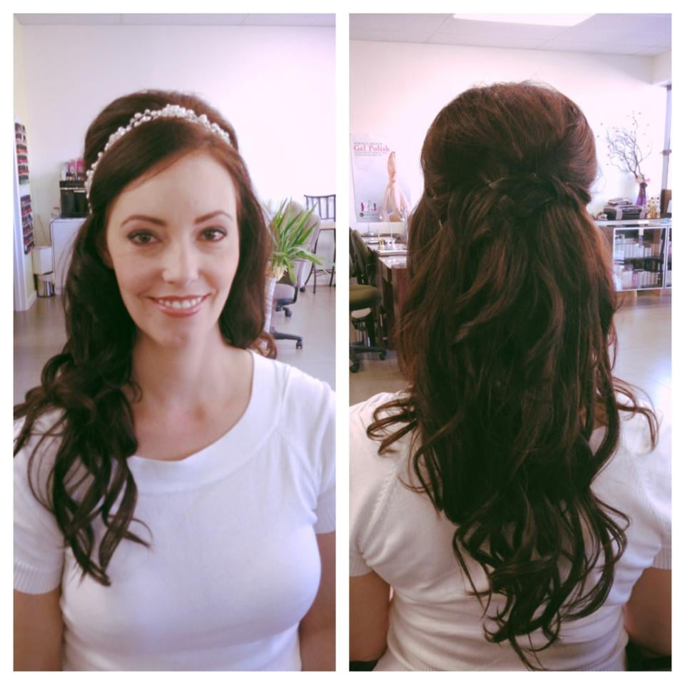 Bridal Hair With Extensions And Makeup By Jen Yelp