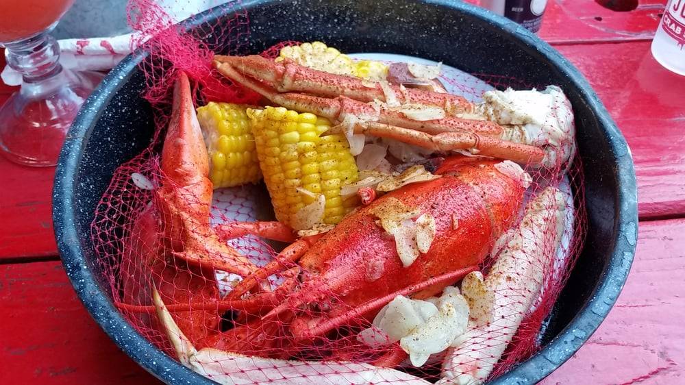 Arctic Bay Steampot Queen Crab Shrimps Main Lobster Corn Potatoes And Sausage Yelp